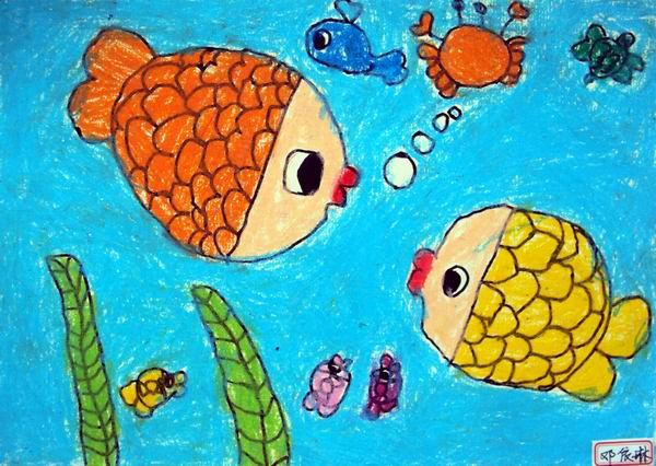 儿童画作品别有一番趣味.图片